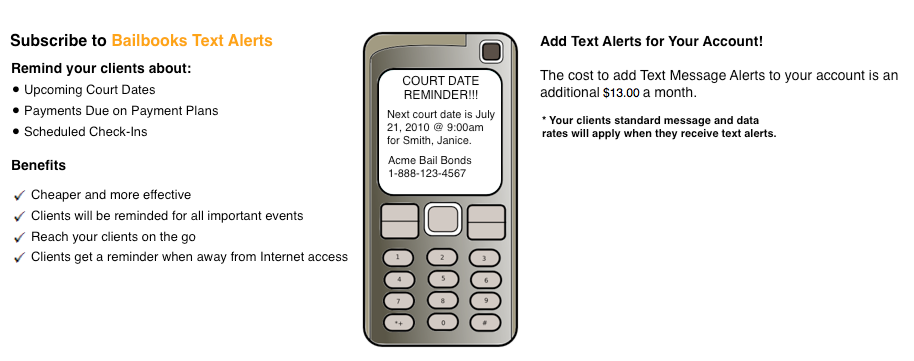 Enable Text Message Alerts